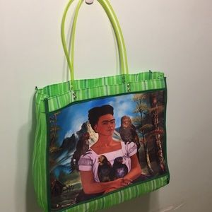 Handbags - Mesh Frida Kahlo Tote